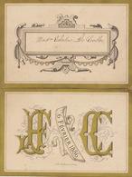 Beau Menu Cartonné 1886 Pour Celestine De Coster - Menus