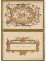 Beau Menu Cartonné De 1886 Pour Charles De Coster Pour Le Mariage De De Winter - Claessens - Menus
