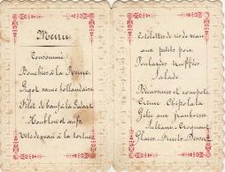 Menu Cartonné En Relief Pour M François De Coster - Menus