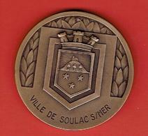MEDAILLE BRONZE VILLE DE SOULAC SUR MER GIRONDE GRAVEUR MAURICE DELANNOY - Tourist