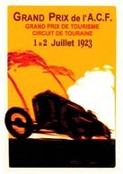 Car Automobile Grand Prix Postcard ACF Tours 1923 - Reproduction - Publicité