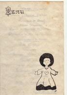 Menu Illustré Manuscrit Du 6 Mai 1945 En Deux Volets - Menus