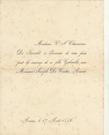 Mariage De Claessens De Smecht Et De Winter Avocat 1886 - Mariage
