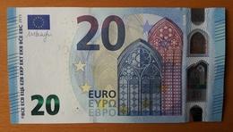 AUSTRIA 20 Euro 2015 Draghi  Letter NZ UNC  Print Code  N001 I6 - EURO