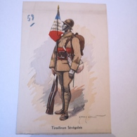 CPA Illustrator: Edmond Lajoux - Militair / Tirailleurs Senegalais 59 // 19?? - Uniformen
