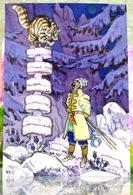 """Conte Folklorique Russe """"aller Là-bas, Je Ne Sais Pas Où"""" / Chat-agent. Bogatyr. Art. Moderne Russe Carte Postale - Contes, Fables & Légendes"""