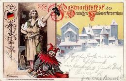 Karneval Fasnachtsfest Des Deutschen Handwerkervereins Künstlerkarte I-II - Zirkus