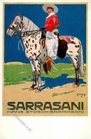 Zirkus Sarasani Sign. Moos, C. Künstlerkarte I-II - Zirkus