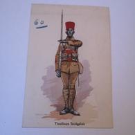 CPA Illustrator: Edmond Lajoux - Militair / Tirailleurs Senegalais 60 // 19?? - Uniformen