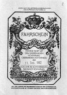 Allemagne, Fahrschein Für Eine Fahrt Mit Der Kaiserwagen, 11 Septembre 1982 - Chemins De Fer