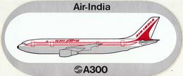 4 Autocollant Airbus A300 Air India VASP - Vecchi Documenti