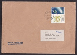 Germany: Cover, 1986, 2 Stamps, Satellite ESA, Space, Olympics, Athletics, Female Discus Throwing, Sports (creases) - [7] West-Duitsland