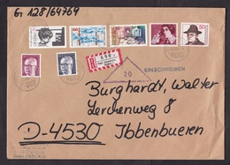 Germany: Registered Cover, 1989, 7 Stamps, R-label Oberkirch Baden, Triangle Cancel (creases) - [7] West-Duitsland