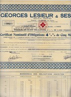 Th5LESIEUR : Certificat1942N° 4 - Aandelen