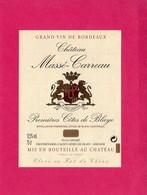 Etiquette Vin, Château Massé-Carreau, Première Côtes De Blaye - Collections, Lots & Séries