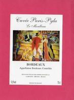 Etiquette Vin, Cuvée Paris-Pyla, Le Moulleau, Bordeaux, Appellation Bordeaux Contrôlée - Collections, Lots & Séries