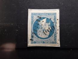 Empire No 14  Obl Pc 1910  De LE MAS D' AZIL  , Ariège,  Indice 6, Belle Frappe TB - 1853-1860 Napoléon III