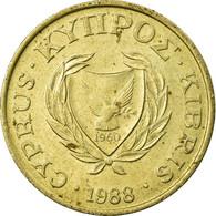 Monnaie, Chypre, 5 Cents, 1988, TTB, Nickel-brass, KM:55.2 - Chypre