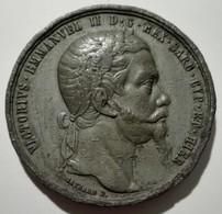 Medaglia Alleanza Franco Sarda Per L'Indipendenza D'Italia 1859 Medal Alliance France - Sardinia For Italy Indipendence - Otros