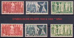 Schweiz Symbolische Bilder 1942: Gummi Gelb & Weiss Zu 216-218 W+x Mi 328-330 W+x Yv B+C313-5 ** MNH (Zu CHF 300.00) - Schweiz