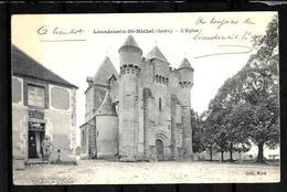 CPA INDRE 36  Lourdoueix St Michel  L'église - France
