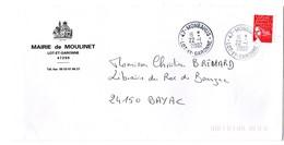 LOT & GARONNE - Dépt N° 47 = MONBAHUS 2002 = PETIT BUREAU = CACHET A9 + MAIRIE De MOULINET - Postmark Collection (Covers)