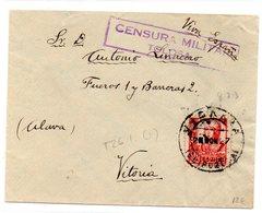 Carta Con Matasellos De Censura Militar De Tolosa - 1931-Hoy: 2ª República - ... Juan Carlos I