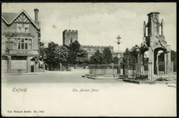 Ref 1249 - 1904 Wrench Postcard - The Market Place - Enfield Middlesex - Middlesex
