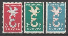MiNr. 590 - 592  Luxemburg 1958, 13. Sept. Europa. - Luxemburg