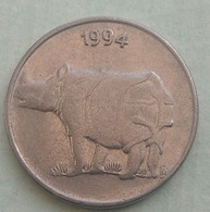 1994 ..Calcutta Mint....RHINO...25  Paise...Inde India Circulated Coin - India
