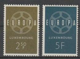 MiNr. 609 - 610  Luxemburg 1959, 19. Sept. Europa. - Luxemburg