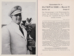 OLYMPIA 1936 - HALTÈRES : SEPP MANGER - CHAMPION OLYMPIQUE - À VOIR DÉTAILS AU DOS ! (z-362) - Haltérophilie