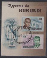 Burundi 1966 President John F. Kennedy M/s IMPERFORATED Used (41523) - Burundi