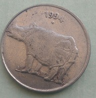 1994... Bombay   Mint....RHINO...25  Paise...Inde India Circulated Coin - India