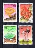 Corea Sud - 1995.  Funghi Serie Completa . Mushrooms Complete Series MNH - Funghi