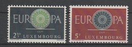 MiNr. 629 - 630  Luxemburg 1960, 19. Sept. Europa. - Luxemburg
