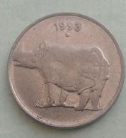 1993...Noida.. Mint....RHINO...25  Paise...Inde India Circulated Coin - India