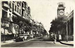 TUNIS  Avenue De Carthage  Film Les 3 Lanciers Du Bengale  L'Ecole De La Beauté Belles Voitures RV - Tunisia