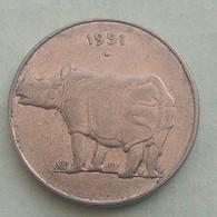 1991..RHINO...25  Paise...Inde India Circulated Coin - India