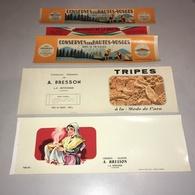 88 LA BRESSE : ABEL BRESSON Lot 5 étiquettes Neuves BOITES DE CONSERVES Vosges | Réf. ZZ-5288-CD82Z - Advertising