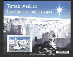 T.A.A.F  2015 Terre Adélie Sentinelle Du Climat      Cat Yt  N° BLOC     N**  MNH - Terres Australes Et Antarctiques Françaises (TAAF)
