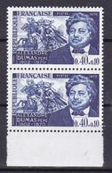 N° 1628 Personnages Célèbrres: Alexandre Dumas: Une Paire De 2 Timbres Neuf Impeccable - Ongebruikt