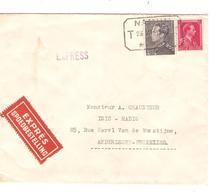2644/ TP 528-529 Poortman S/L.Exprès C.T.T.Namur 1942 V.BXL - Bélgica