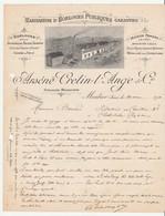 Morbiez.39.Jura.Courrier De La Manufacture D'Horloges Publiques Arsène Cretin-l'Ange & Cie.1910.Horlogerie.1910 - Petits Métiers