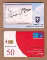 AC - TURK TELECOM PHONECARDS -  TF - 102A DELTA DAGGER 1968 - 79 9 CREDITS: 50 DATE : 2006 - Aviones