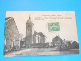 70 ) Gourgeon - Place De L'église  - Année 1913 - EDIT : Poussy - France