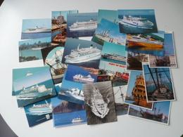 LOT DE 26 CARTES  THEME   BATEAU - Ships