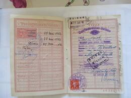 Passeport Avec Timbres Fiscaux - Revenue Stamps