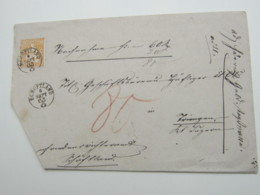1863 , SCHÖFTLAND , Klarer Stempel Auf Brief , Eckschnitt - 1862-1881 Helvetia Assise (dentelés)