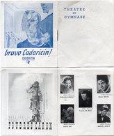 Théatre Du Gymnase - Les Parents Terriblesde Jean Cocteau Avec Daniel Gélin - Pub Cadoricin - De Riaz    (110772) - Programmes